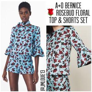 Alice + Olivia Bernice Rosebud Floral Top & Shorts